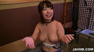 Kinky  Wakaba Onoue craves for a big cock in her pussy